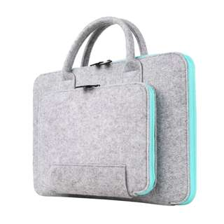 New Felt Universal Laptop Bag with an attached Pouch to store accessories. Specially made for Macbook 15""