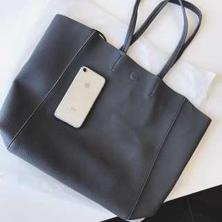 Dark Grey Leather Bag⭐️