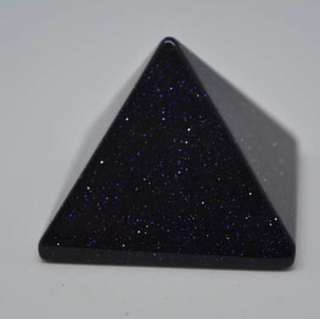 Blue goldstone Crystal Pyramid