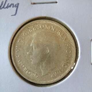 1943s Australia shilling