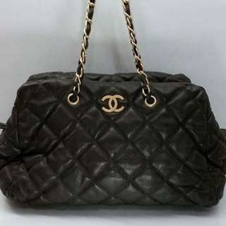 Chanel Bubbl Quilted Choco Brown Color