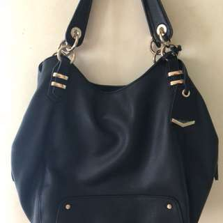 Accessorize black leather bag from london