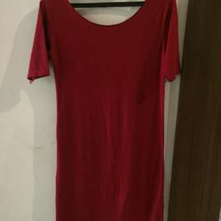 Dress merah bodycon