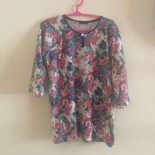 Baju kurung bunga 2 sets