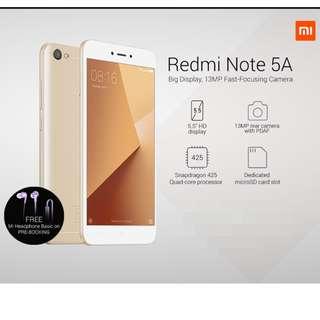 (Xiaomi 小米)Redmi 紅米 Note 5A, 2+16G, champagne gold, global version