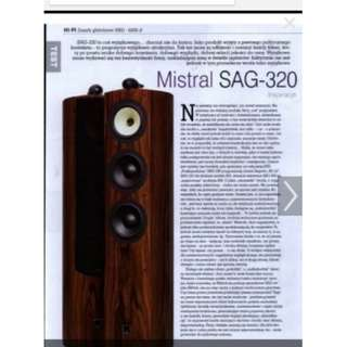 Mistral High end Audiophiles 3 Way Speaker