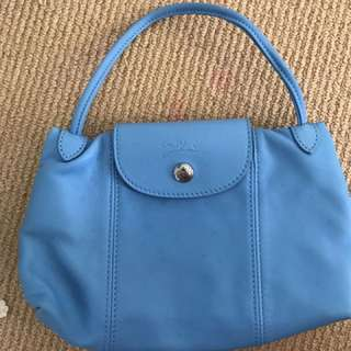 Blue Small Longchamp Authentic Bag