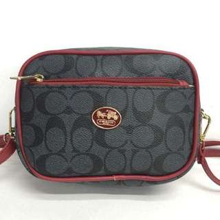 Coach sling bag size : 5.5*7.5 inches