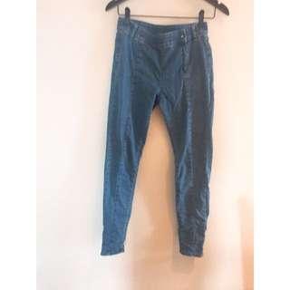 Lativ直筒線條顯瘦高腰牛仔褲-24