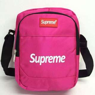 Supreme sling bag size : 8*9 inches