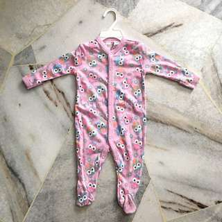 Baby Girl Sleepsuit (6 Months)