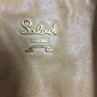 Salad全皮淺啡色可較長、短手袋