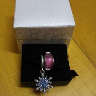 [全新 Brand New] Pandora Snowflake 雪花 & Disney Anna Glass Charms