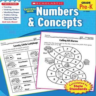Scholastic Success with Numbers & Concepts Grade Pre-K(PDF)