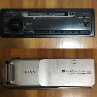 🚚 (只要1000)Sony 音響主機+10片CD換片箱