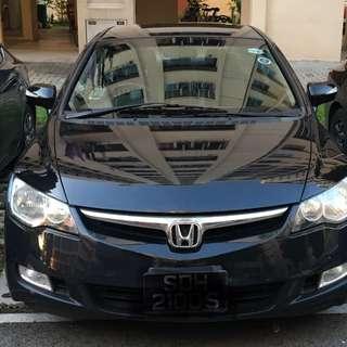 Honda Civic rent /uber/grab