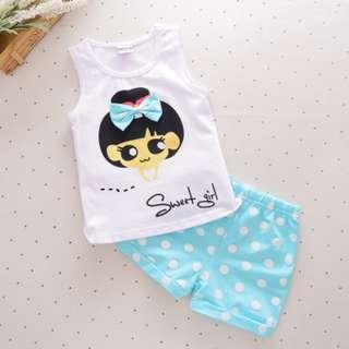 2- piece summer kid girl clothes