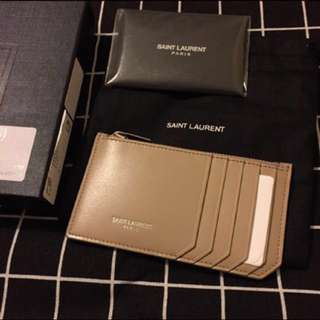全新 YSL Saint Laurent Classic Paris Leather Card Holder