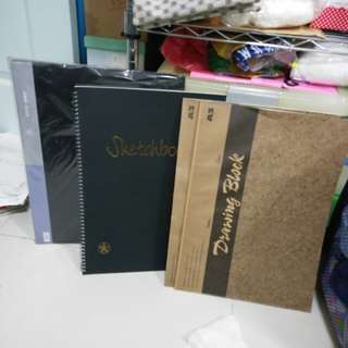 (A3) pocket art file. Drawing book (A3) sketch book.
