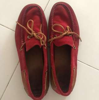 Red Suede Loafers - Camel