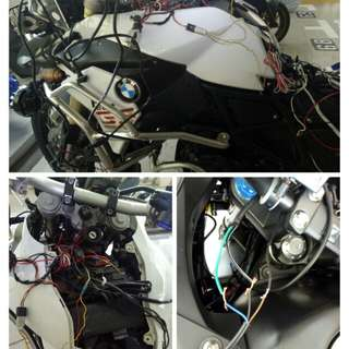 Rewiring accessories and fusebox BMW gs f800