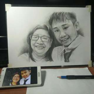 Commission Portrait Art (Great Gifts For Special Occasions like Birthdays, Anniversaries, Weddings and Etc.)