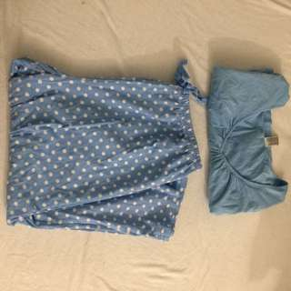 Blue Polka Dot Pyjamas PJs