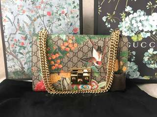 Authentic Gucci Tian Padlock Shoulder Bag