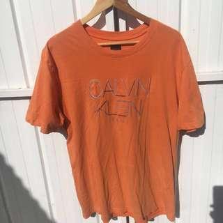 Calvin Klein Jeans Orange Tshirt