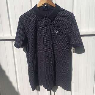 Fred Perry Navy Polka Dot Polo