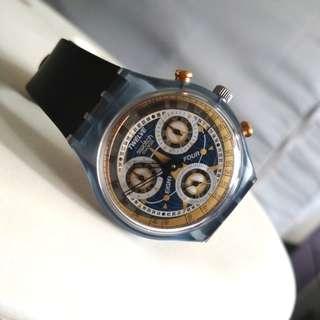 *lelong!swatch pilot design original rare perfect condition like new.xde kat malaysia so xkn jumpa sorng pun pakai.fix price#