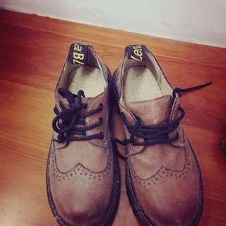 全新牛津厚底鞋