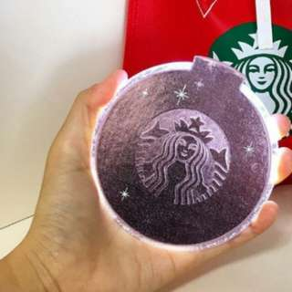 Starbucks Korea christmas LED coaster(Pink)