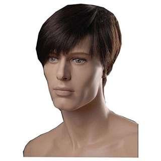 Best Hot Men Wigs Black Men Hair Wig Shops Synthetic Fiber Hair Wigs