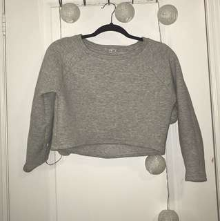 aritzia • ribbed crop sweater
