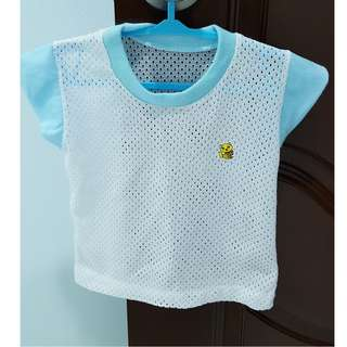 Baby pants & shirt - White