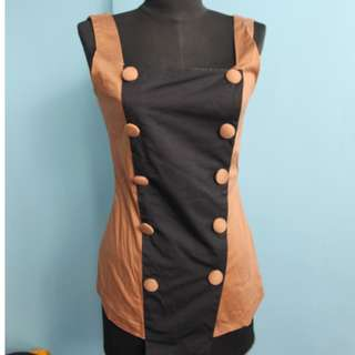 Brown Corset Type Top