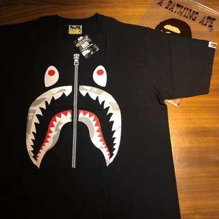 BAPE SHARK TEE T SHIRT BLACK Authentic size M