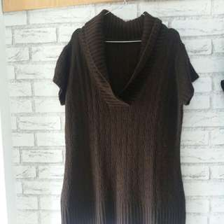 Top brown sweater/rajut/baju dingin