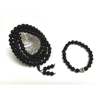 (BN) 108 beads Black Obsidian (黑耀石) Malas