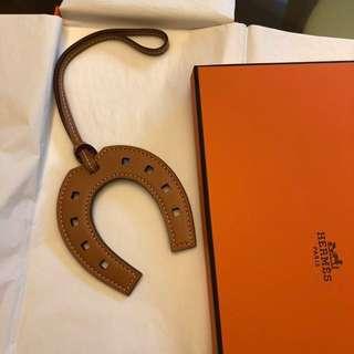 Hermes paddock horse shoe bag charm 全新