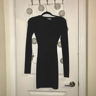 aritzia • black cut out dress