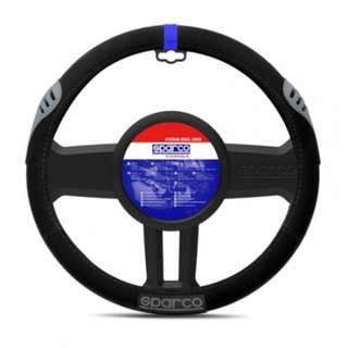 Sparco SPC1107AZ Steering Wheel Cover (Black)