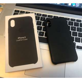 Authentic Apple Leather Case for the iPhone X (black)
