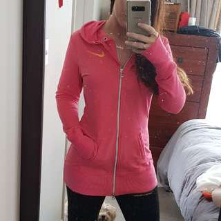 Nike long sleeve dri fit jacket pink