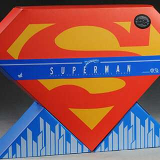 JUST THE BOX For Hot Toys 1/6 Christopher Reeves Superman Figure ( Figure Not Included)