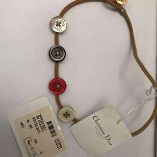 Christian Dior 皮頸鍊