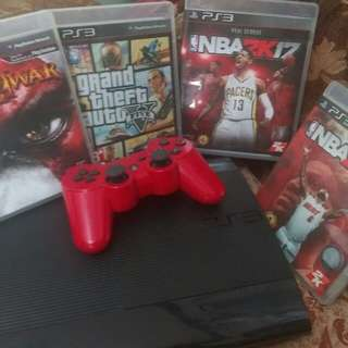 PS3 Slim Type with PS3 CD Games