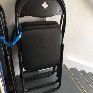 Black foldable Chair with cushion