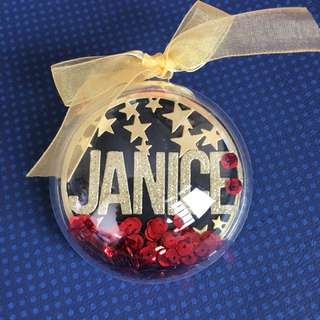 Name Shaker ornament